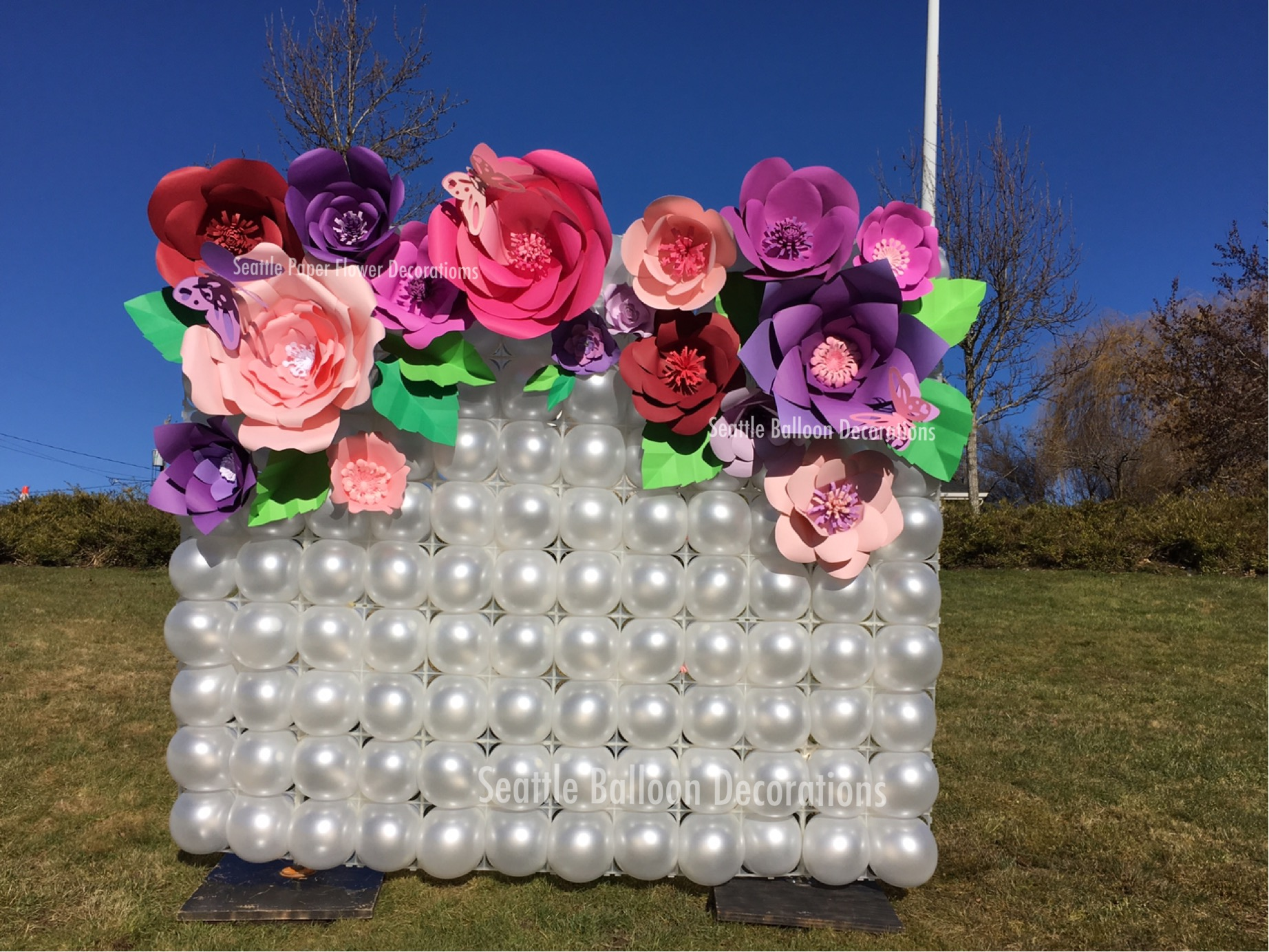 Happy Birthday Flowers And Balloons ~ Seattle balloon decorations balloon & paper flower decorations