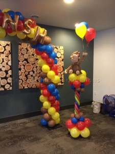 Curious George Birthday decoration Seattle Balloon Decorations
