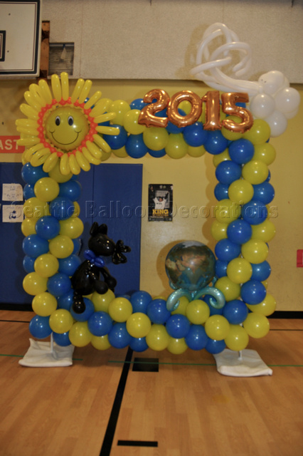 Photo frame 200 seattle balloon decorations for Photo decoration