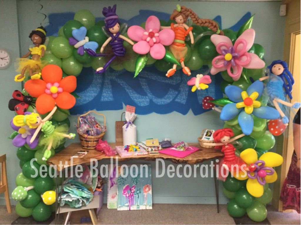 Fairy arch seattle balloon decorations for Balloon decoration ideas for birthday party