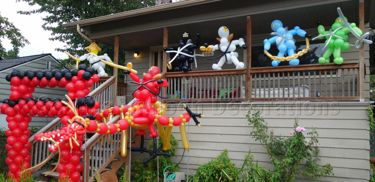 Ninjago theme birthday party Seattle Balloon Decorations