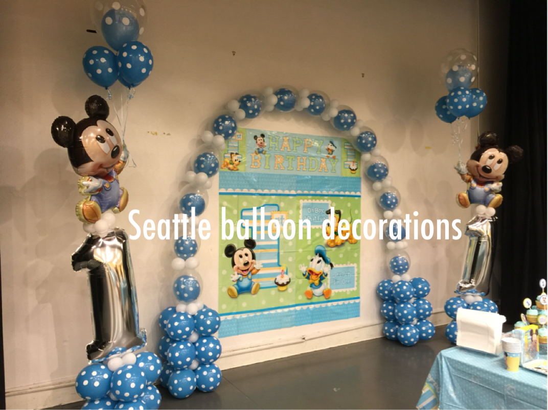 October 2015 seattle balloon decorations for Balloon decoration for 1st birthday party