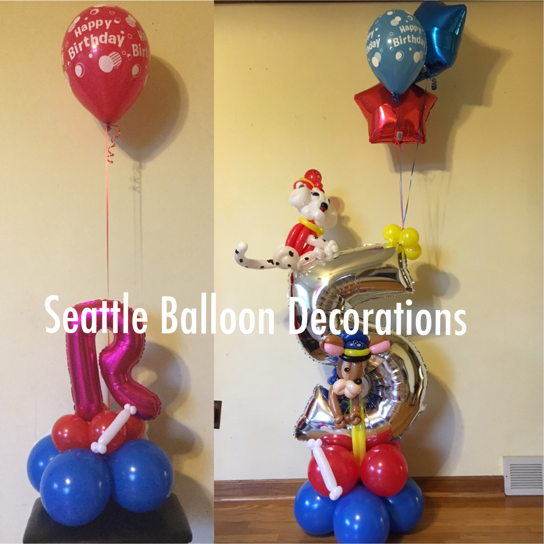 Paw patroll seattle balloon decorations