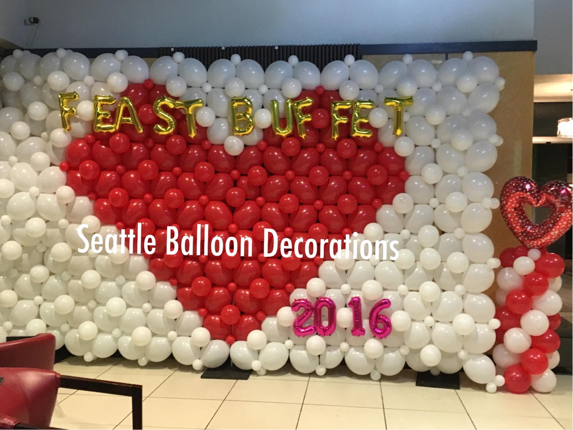 Valentine restaurant decoration seattle balloon decorations