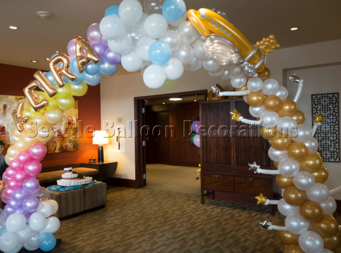 Travel theme baby shower seattle balloon decorations for Balloon decoration chicago