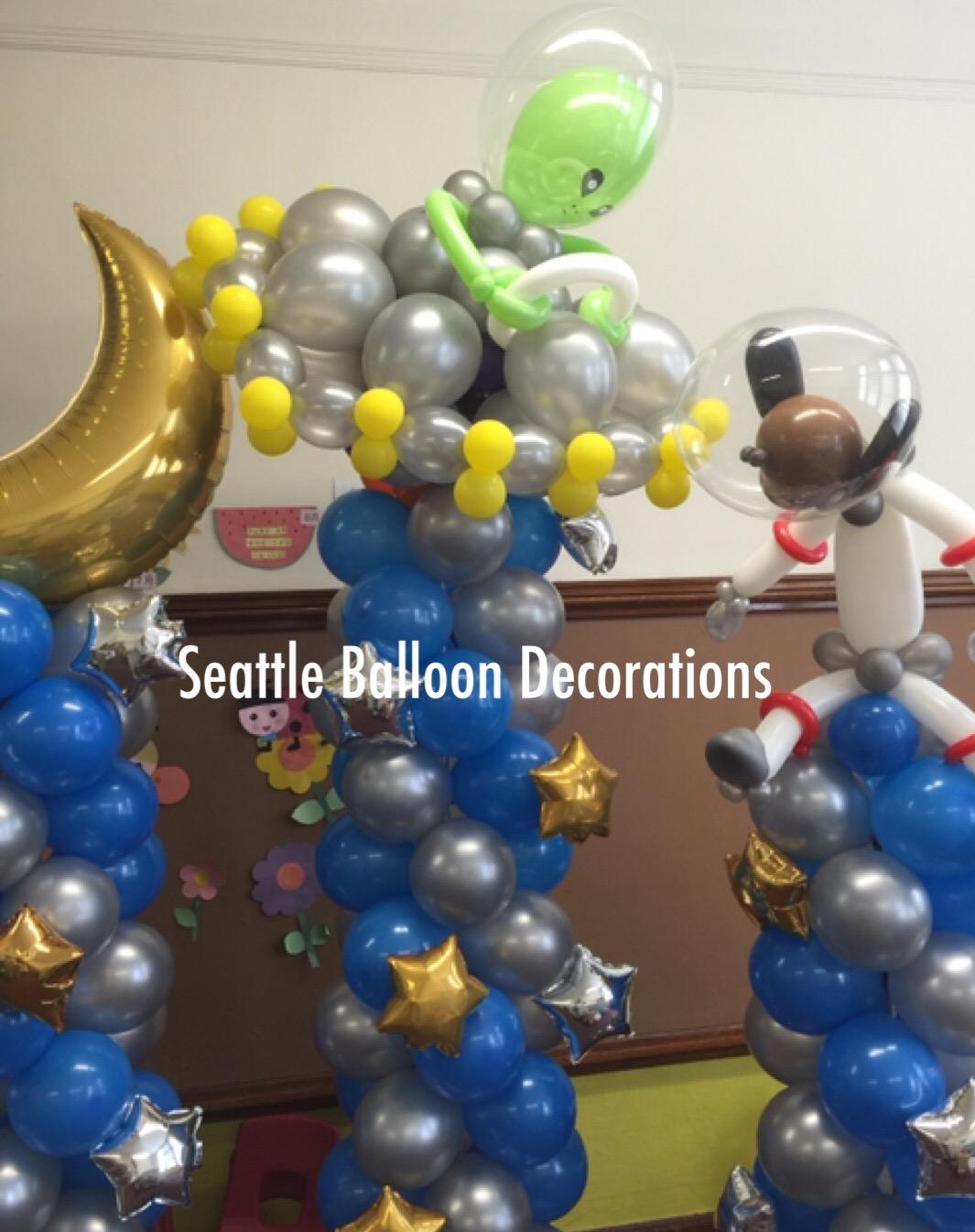 Space Themed Decorations Part - 35: Space Theme Graduation Ceremony At Yugakusha Preschool. Congratulations!!