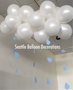 Hiromi seattle balloon decorations for Balloon cloud decoration