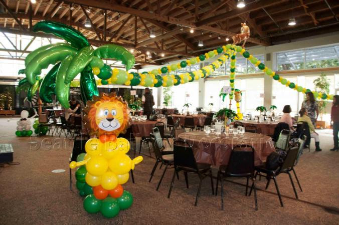 Safari Theme Birthday Party Seattle Balloon Decorations